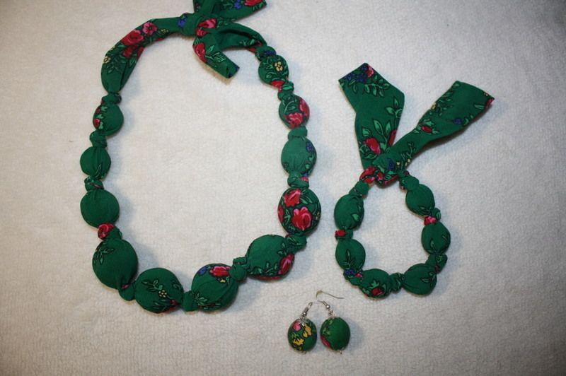 Komplet biżuterii korale bransoletka kolczyki folk - vinted.pl