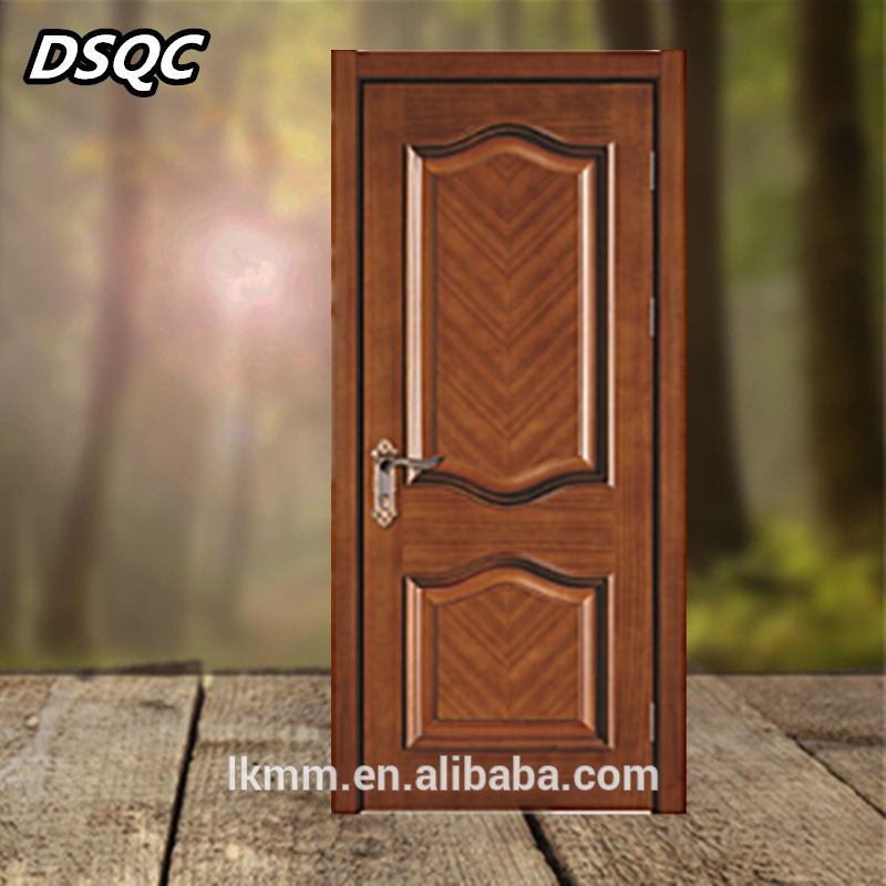 Dsqc Single Main Door Design Wooden Door Price List Alibaba