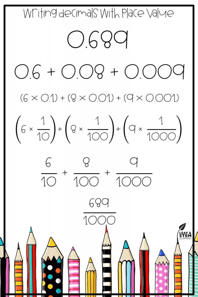 Expanded Form Or Expanded Notation 5th Grade Pinterest