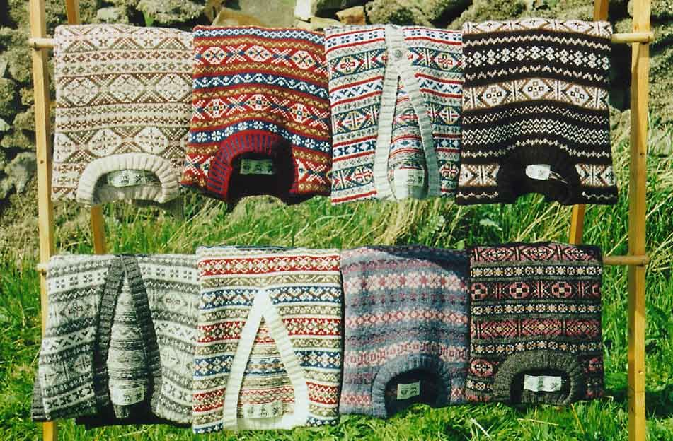 An array of traditional Fair Isle patterns.