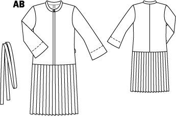 Sheer Pleated Placket Dress 03/2015 #111B – Sewing Patterns | BurdaStyle.com