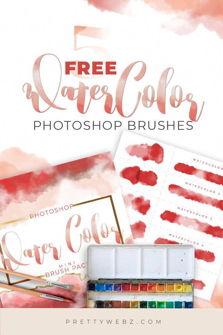 Set of five watercolor brushes, use them to make