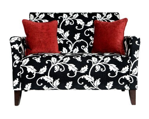 angelo:HOME Sutton Loveseat Black and White Vine angelo ...