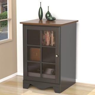Nexera Pinnacle 1 Door Audio Tower Multi Multicolor Entertainment Furniture Tempered Glass Door Adjustable Shelving