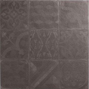 Carrelage sol et mur graphite effet béton Cosy l472 x L472 cm - Plinthe Salle De Bain