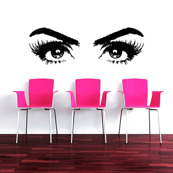 Makeup Wall Decal Vinyl Sticker Decals Art Home Decor Design Mural - How to make vinyl decals for clothing