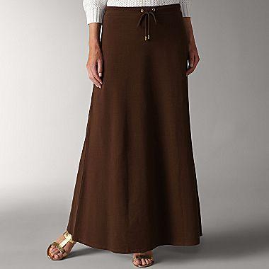 597211f44c8 Liz Claiborne Sport Maxi Skirt with drawstring waist - jcpenney
