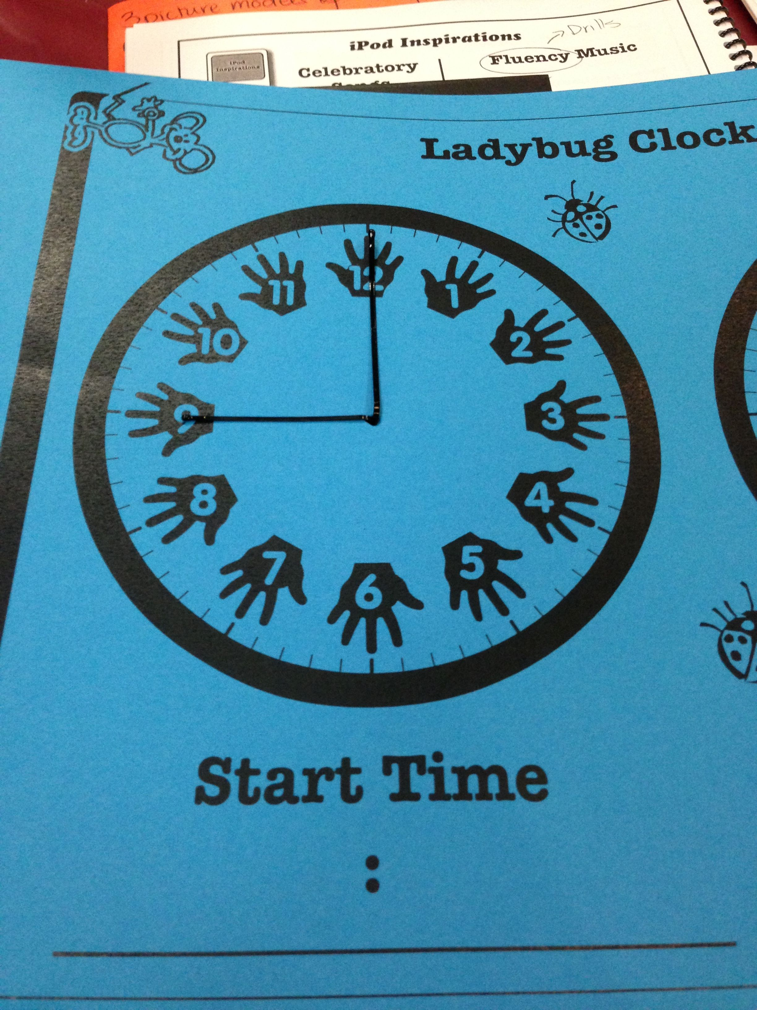 Clock Using Long And Short Bobby Pins To Teach Time
