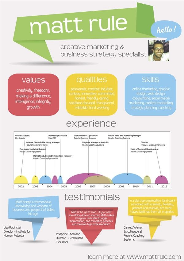 25  infographic resume examples for inspiration