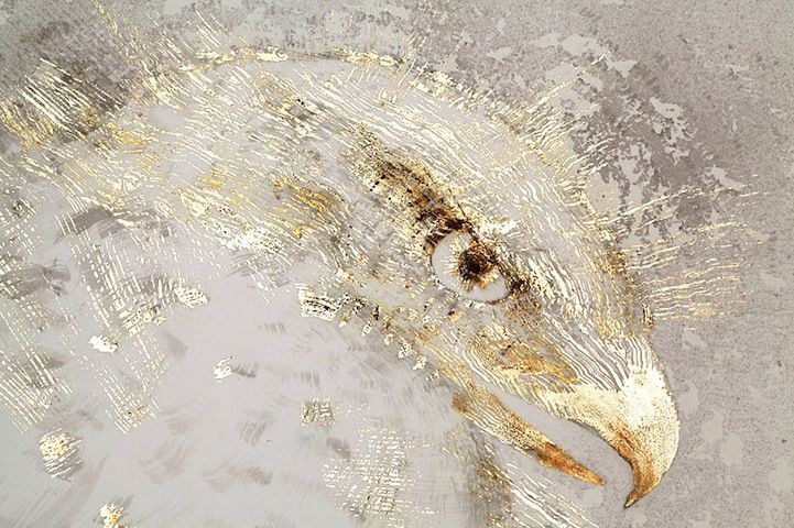 Glimmering Gold Drawings Symbolize Pollution in Nature - My Modern Metropolis