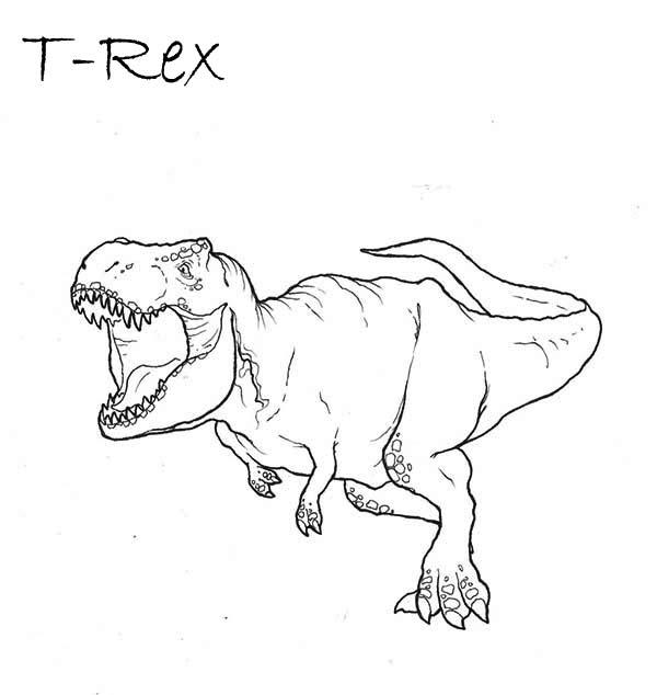 T Rex Going To Bite You Coloring Page Color Luna en 2020