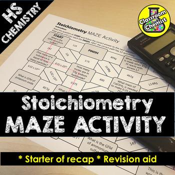 Moles Activity Maze High school chemistry, High school