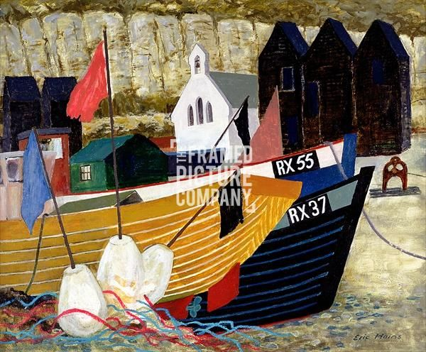 Hastings Remembered (oil on canvas) by Eric Hains from The Framed ...