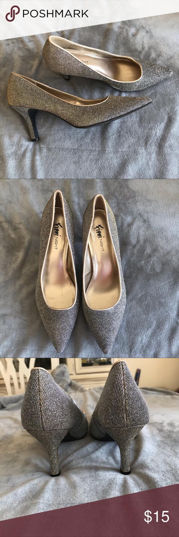 Fioni Night Sparkly Glittery Heels Size