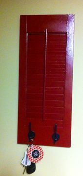 #Dad #Repurposed #shutter Repurposed shutter my Dad and I made!