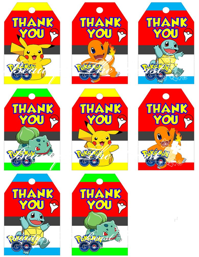 Pokemon Character Pikachu Wrapping Paper 2 Sheets /& 2 Tags Birthday Party Gift