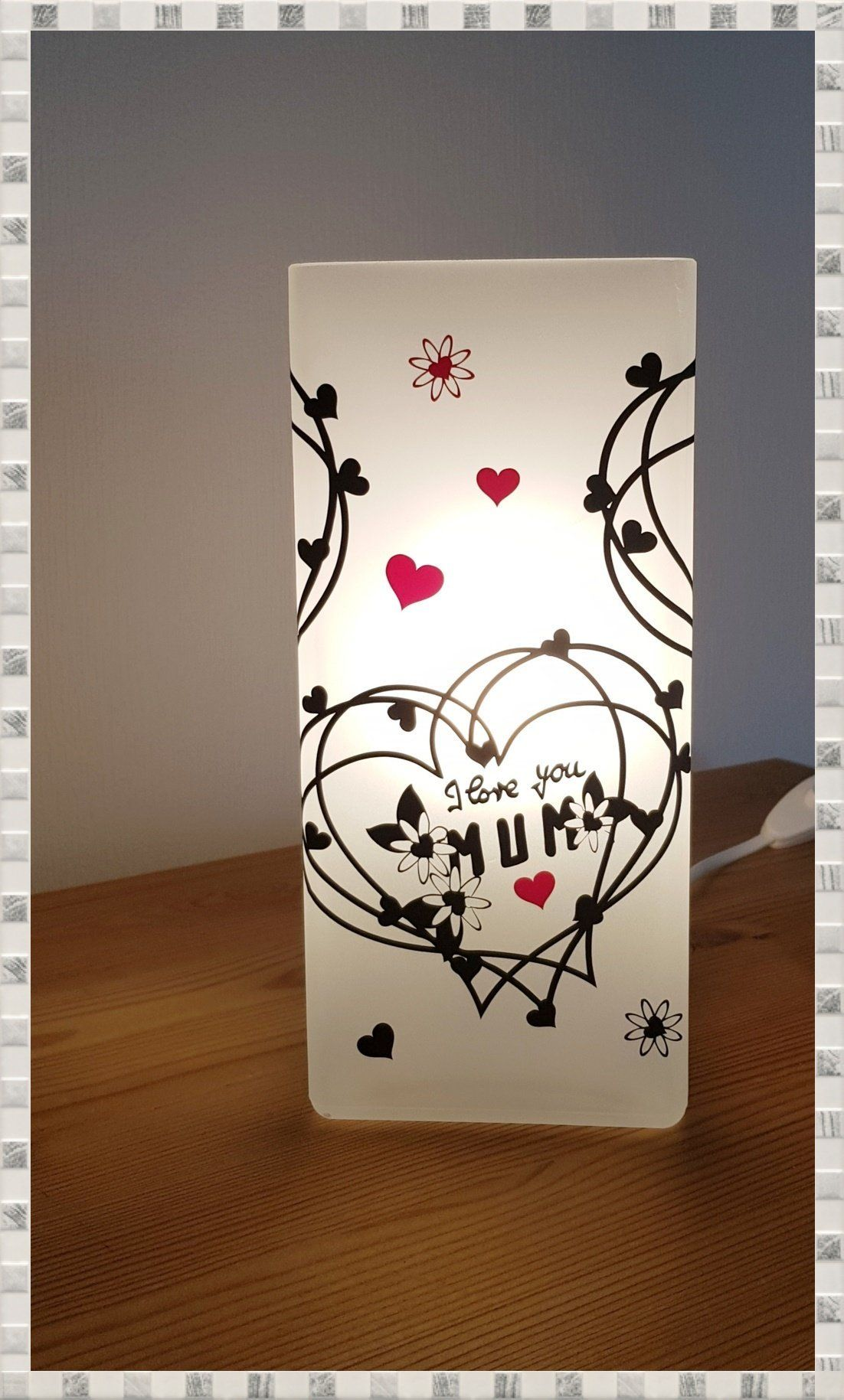 Tischlampe Muttertagsgeschenk Kleine Lampe Lampe Mit Spruch Geschenk Fruhlingsdekoration Easter Images Diy Trends Happy Easter