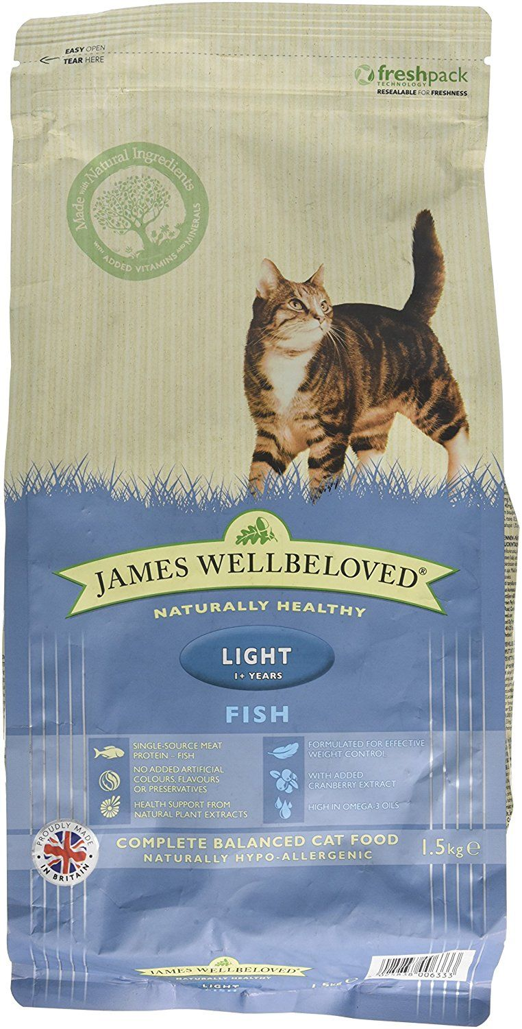 James Wellbeloved Fish And Rice Light Cat Food 1 5 Kg Check Out This Great Product This Is An Affiliate Link A Cat Food Cat Food Allergy Cat Food Coupons