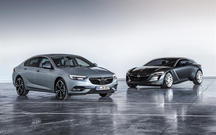 Download wallpapers Opel Insignia, 2018, 4k, luxury sedan