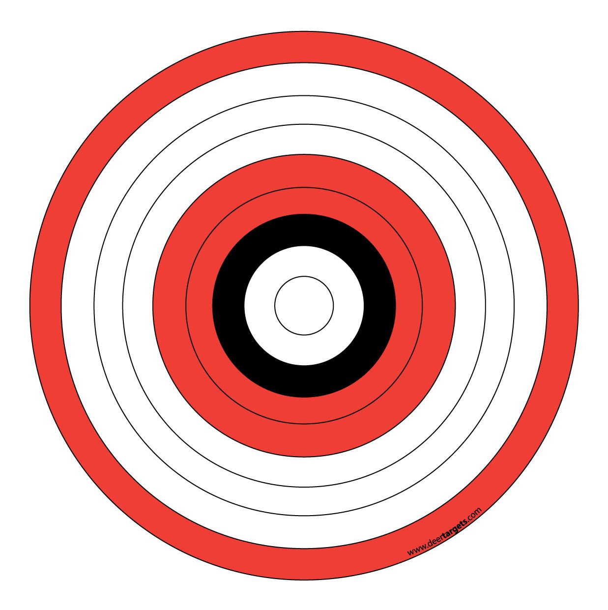 Printable archery targets archery target stands for Bullseye template printable