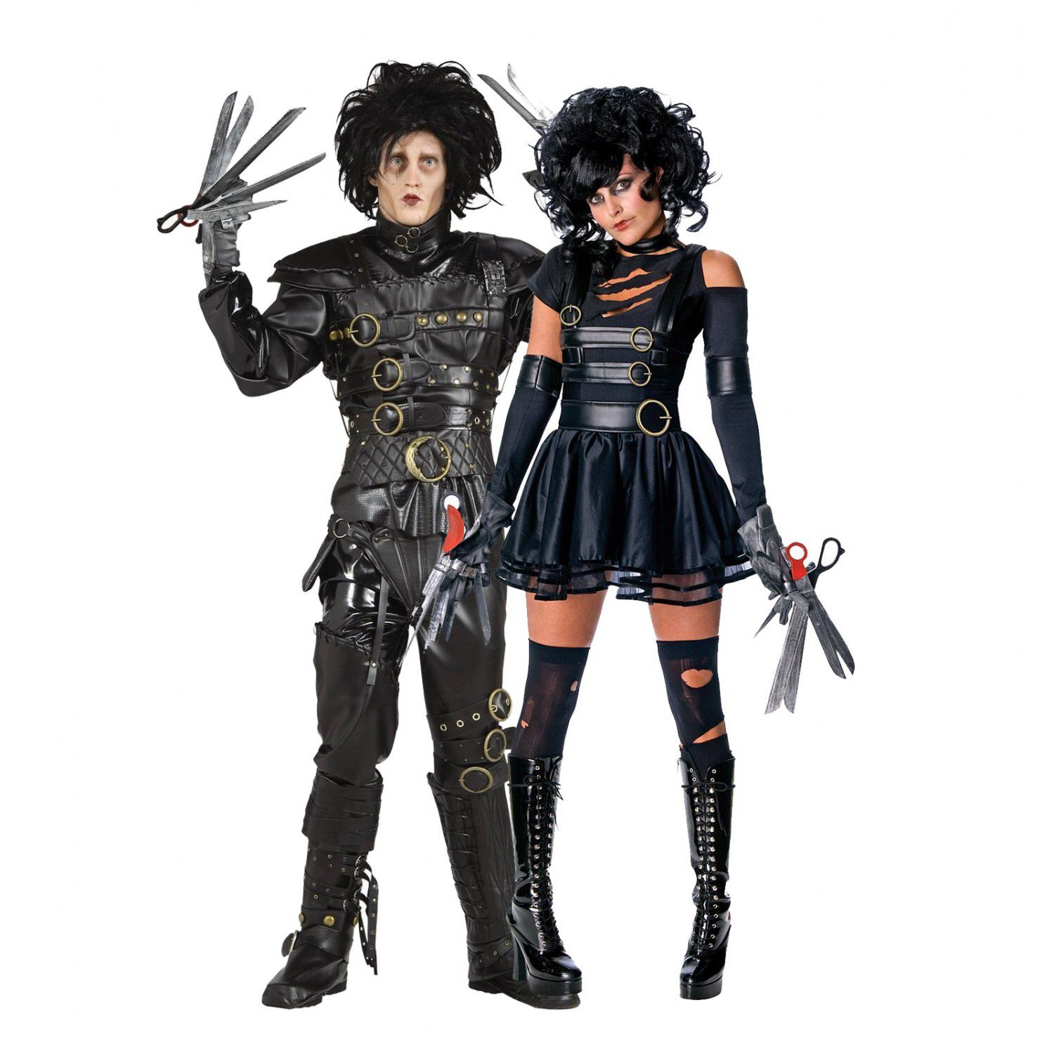 A Male And Female Version Of Edward Scissor Hands Design Dengan Gambar