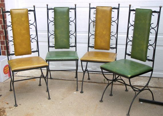 Bon Vintage Spanish Indoor/outdoor Wrought Iron Chairs, Etsy
