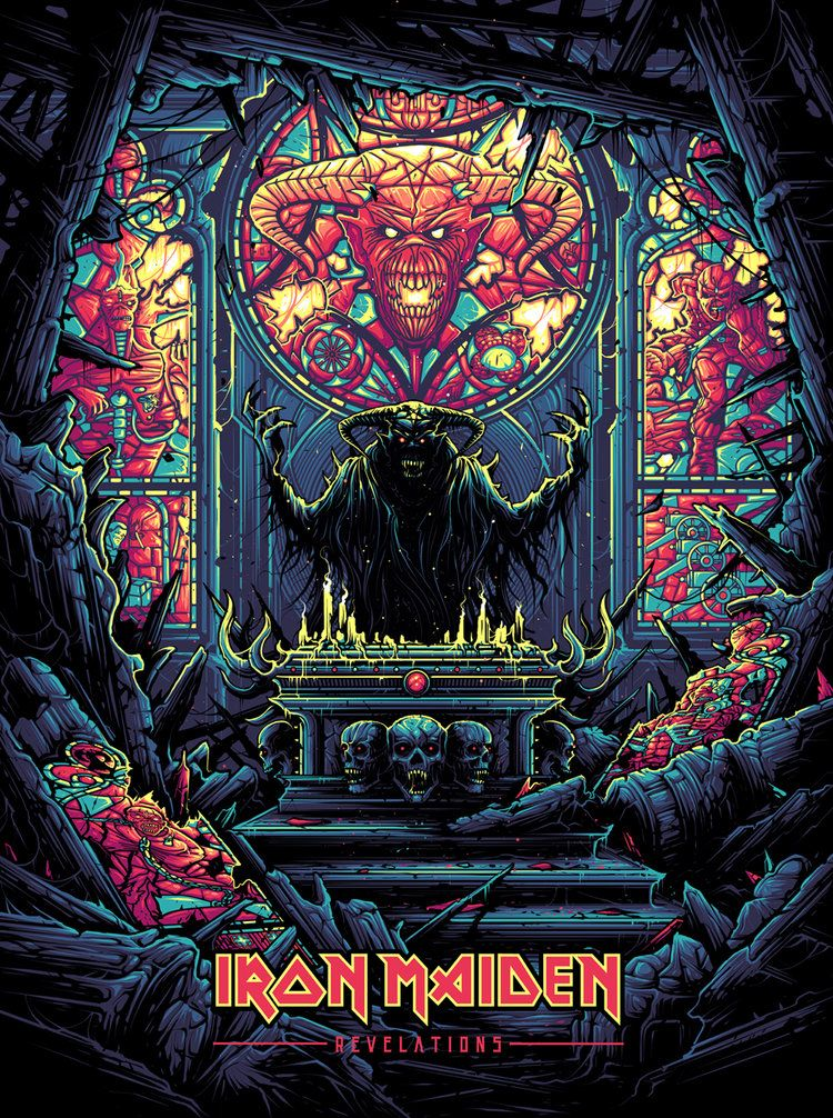 Dan Mumford Chroma Iv Iron Maiden Tattoo Iron Maiden Albums Iron Maiden Posters