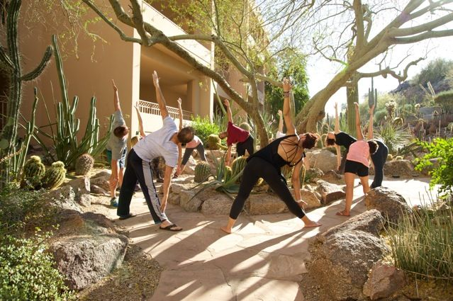 Yoga Walk: power walk around the resort stopping at scenic spots for yoga poses.