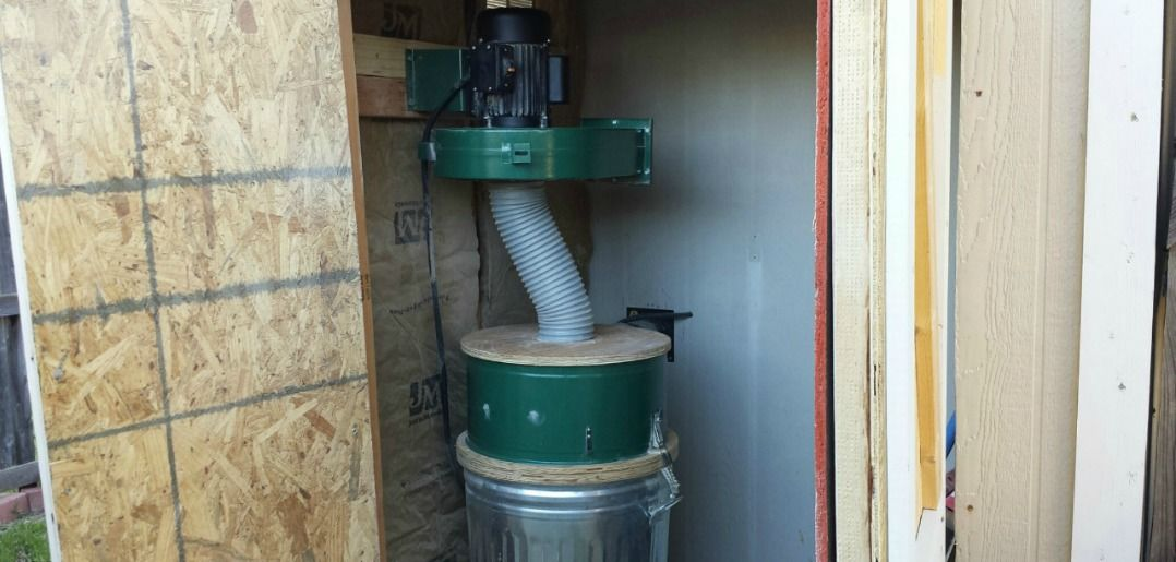 Installing A Harbor Freight Dust Collector Outside Wilker Do S