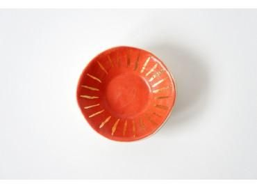 Coral + Gold Ring Dish . the object enthusiast ++ via BRIKA