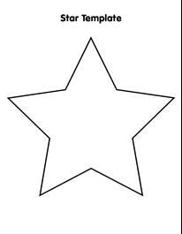 large star template | Star template, Star template ...