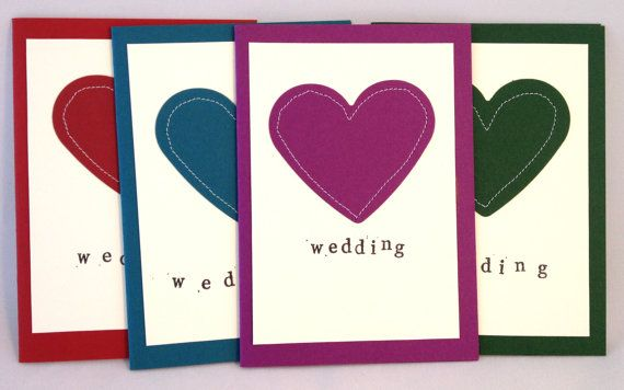Handmade Stitched Personalised 'Wedding' Card by NaisyHomemade