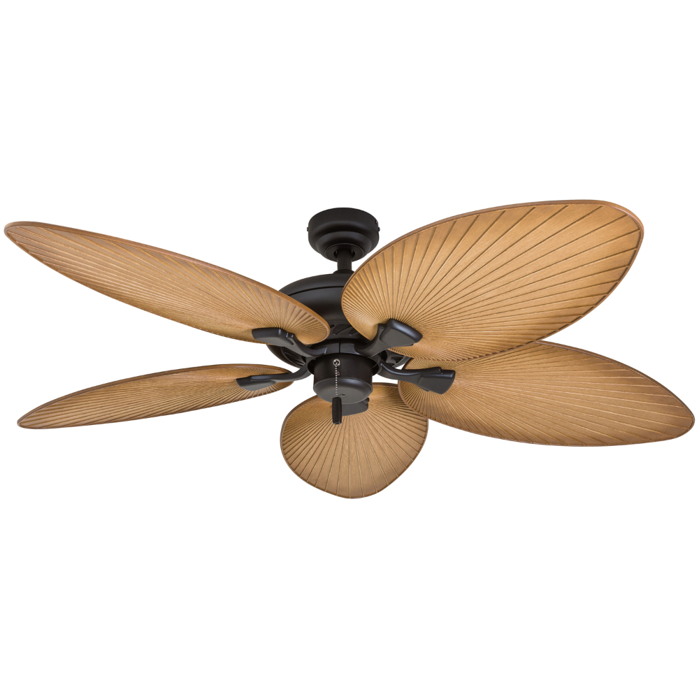 Bay Isle Home 52 Mccall Tropical 5 Blade Ceiling Fan Finish Bronze In 2020 Ceiling Fan Tropical Ceiling Fans Coastal Ceiling Fan
