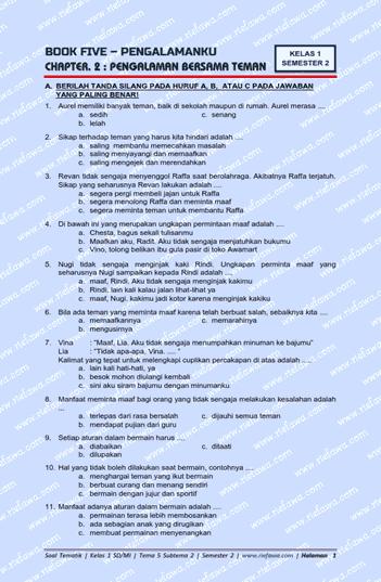 Jawaban Tematik 5 Subtema 2