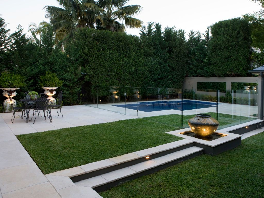 Classic limestone paving pool design ideas pool designs for Modern pool landscaping