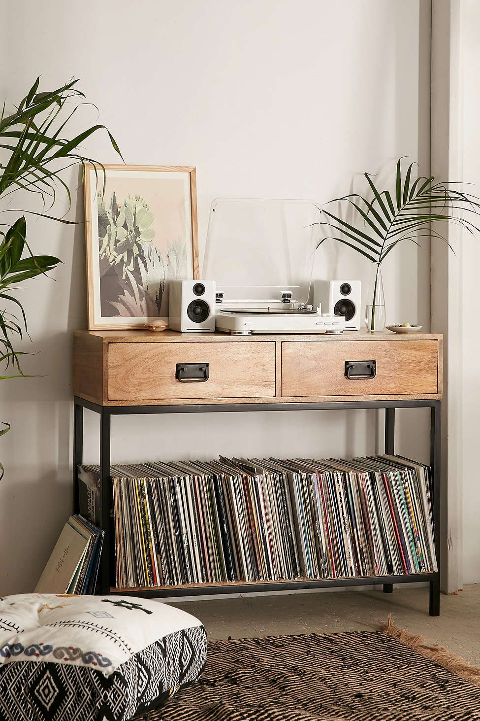 Lps Storage At Casper Industrial Wooden Console Urban Outfitters  # Meuble Tv Urban