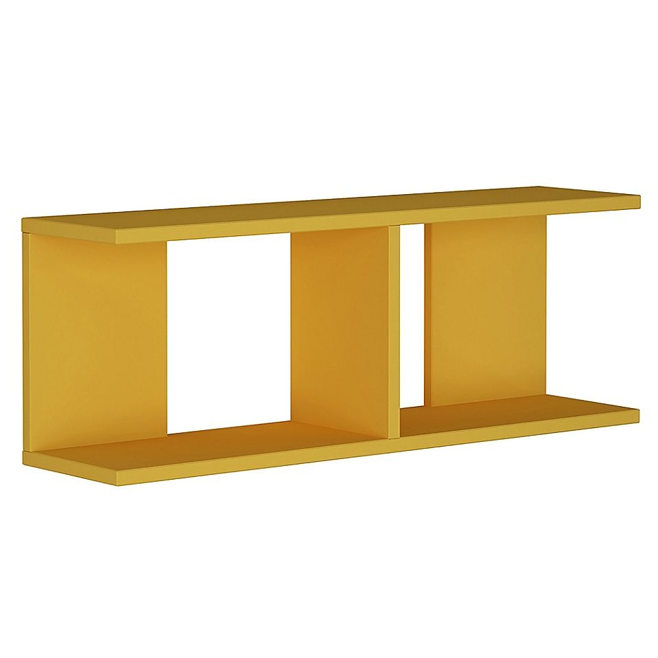 Ada Home Decor Warwick 32 Inch X 12 Inch Modern Wall Shelf In Mustard With Images Modern Wall Shelf Wall Shelves Shelves