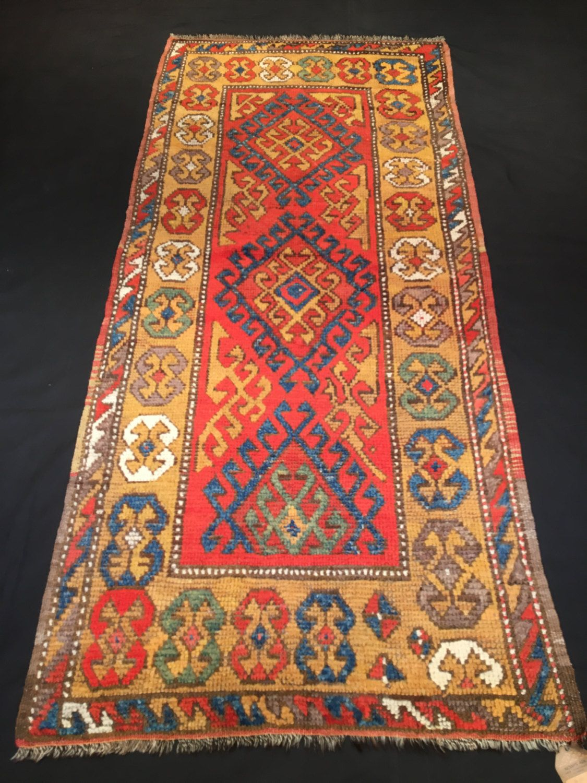Vintage Warm Colors Turkish Rug Konya Pile 3 4 X