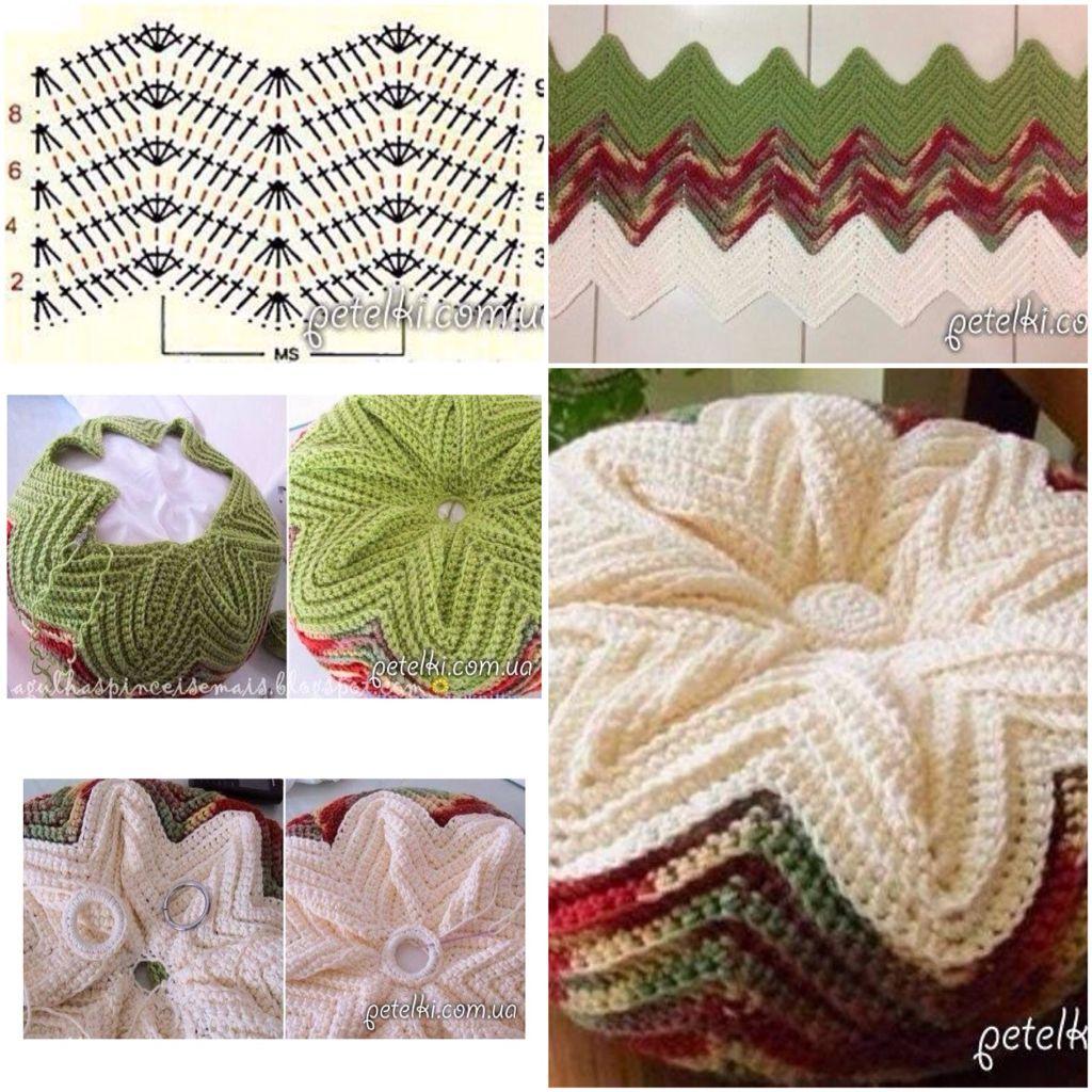 Patrón de cojín redondo a crochet   Crochet   Pinterest   Cojín ...