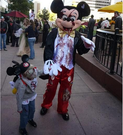 Zombie Mickey Mouse Costume Idea For Halloween | Mouse ...
