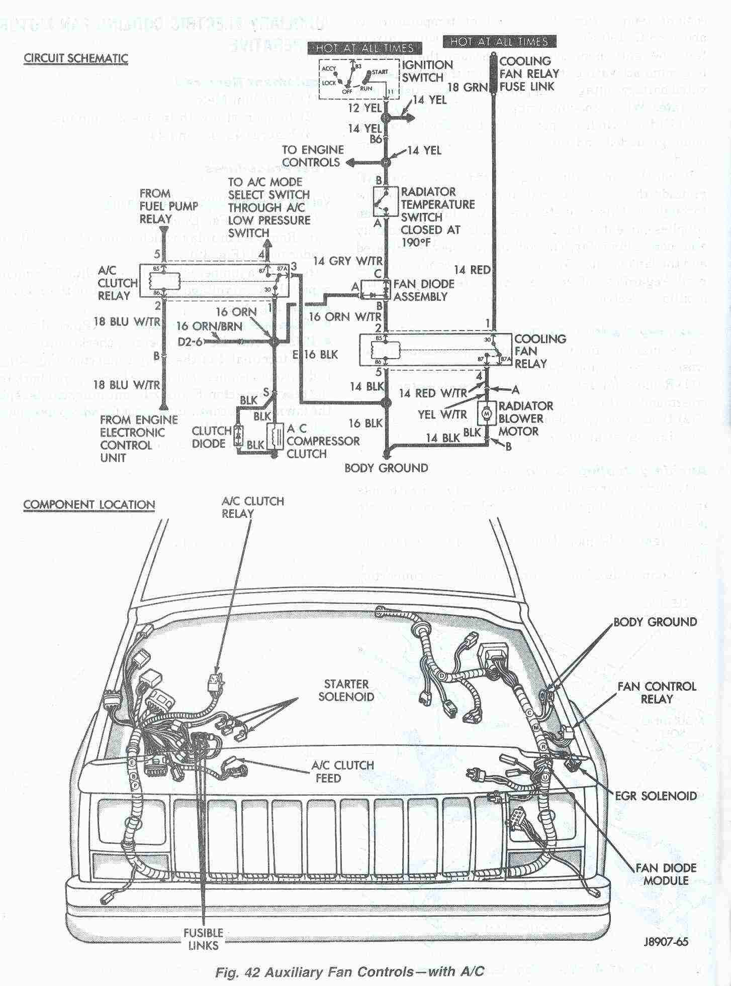 1998 jeep wrangler fuel pump wiring diagram jeep cherokee cooling system electric cooling fan  jeep cherokee cooling system electric