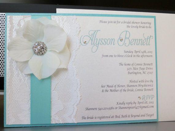 TIFFANY doccia invito a nozze a tema - Tiffany blu o menta e sposa bianco
