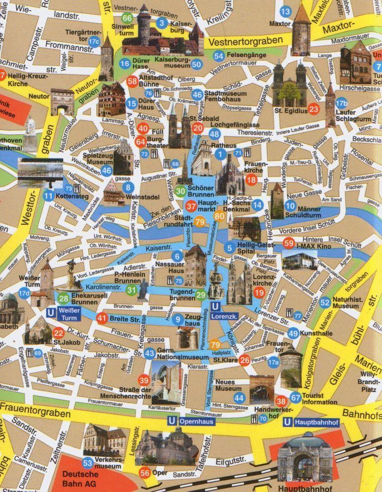 Map of Nuremberg NUERNBERG - GERMANY Pinterest European - plana küchenland nürnberg