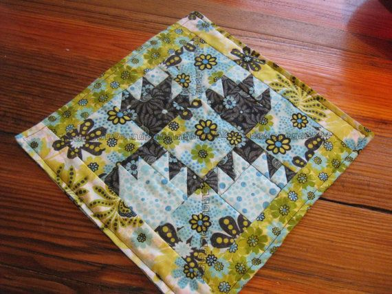 Blue Bear claw candle mat or table center by RachaelsCrazyScraps