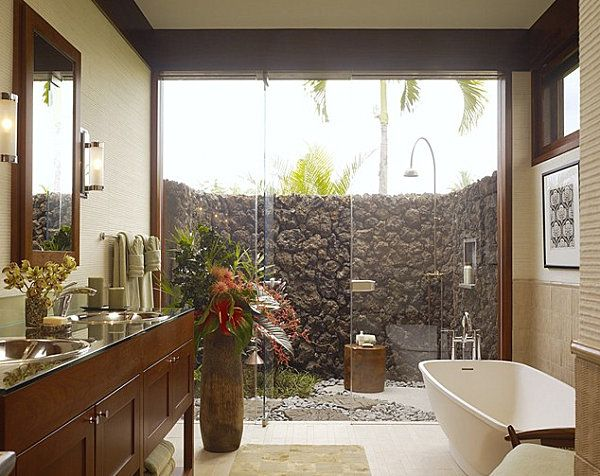 12 idées déco de salle de bain au style tropical - Moderne House - idee deco maison moderne