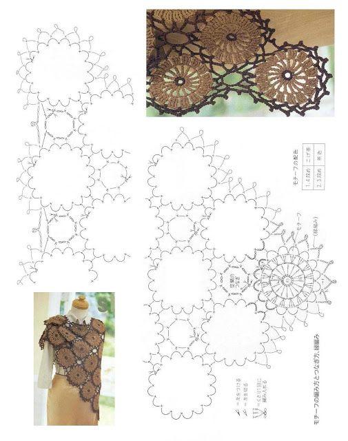 Caffé Crochet Wonders: Scialli e scialle Crochet   crochet ...