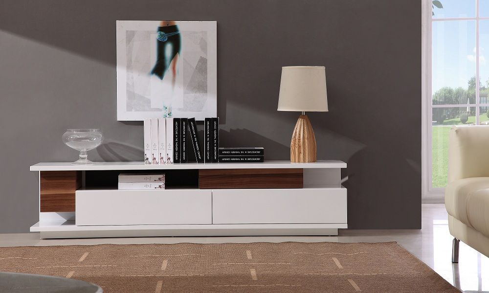 Exclusive Italian Design Clean Line Modern TV Stand with Drawers St