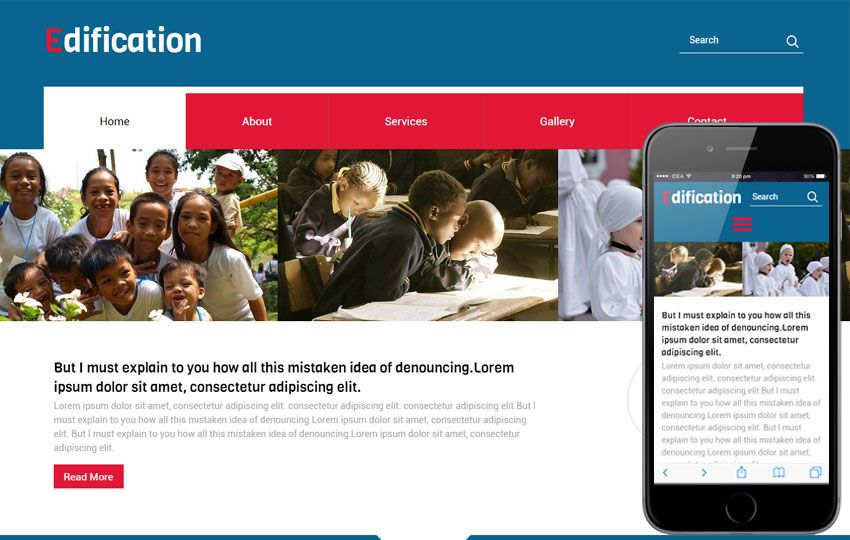 Mobile Website Templates Education School College Mobile Website Templates  Places To