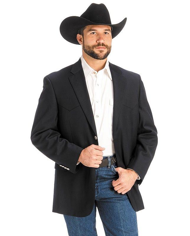 Men S Navy Classic Western Sport Coat Mens Western Wear Western Sport Coat Cowboy Outfits