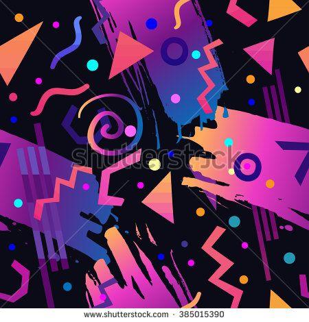 90s Stock Vectors Vector Clip Art Pattern Art Retro Abstract Pattern